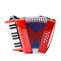Hot Sell 17 Key 8 Bass Accordion Seven Color Mini Children Accordion Educational Musical Instrument Toy For Kids Puzzle Gift