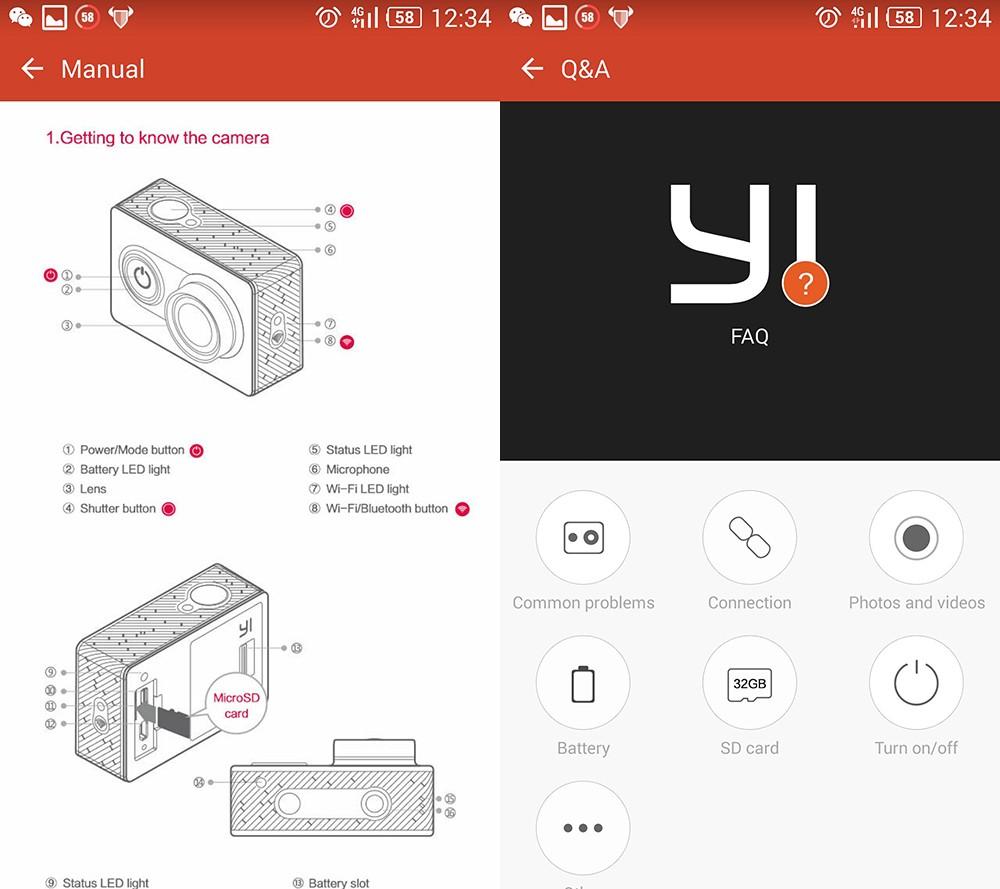 [International Edition]Original Xiaomi YI Action Camera Xiaoyi 1080P Sports Camera WiFi 3D Noise Reduction 16MP 60FPS Ambarella 24