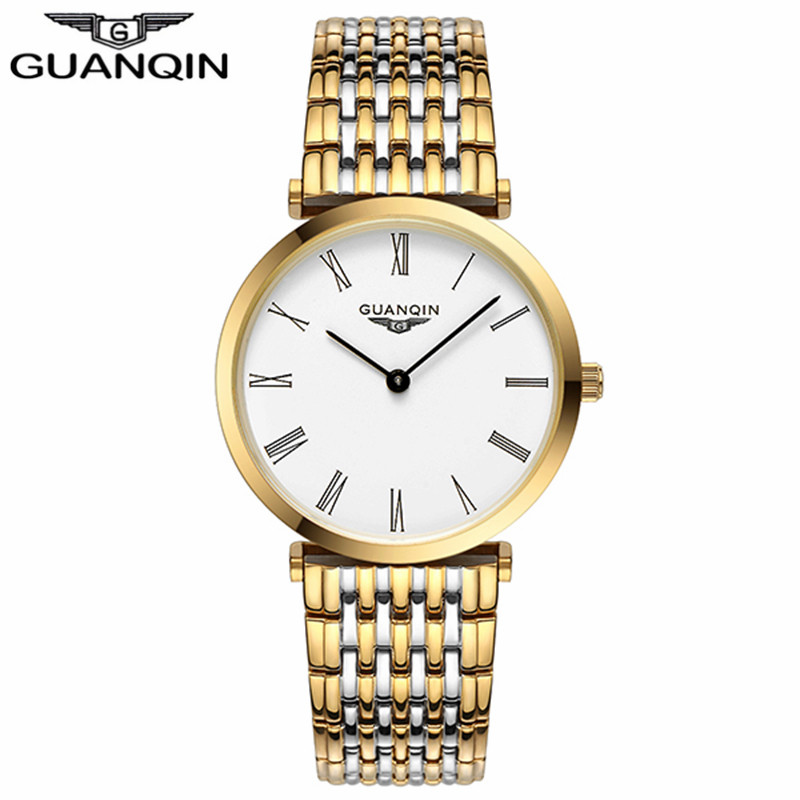 GUANQIN Women Watches 2017 Luxury Top Brand Watch Women Casual Fashion Gold Silver Steel Quartz Girl Watches relogio feminino (5)