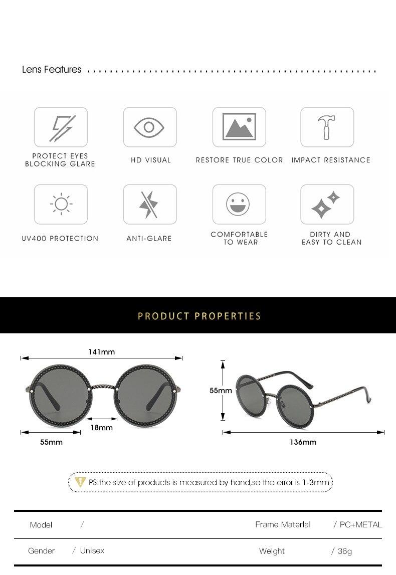 3 round gafas de sol mujer
