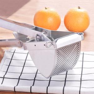 Image 2 - 헤비 듀티 싱글 프레스 레몬 압착기 알루미늄 및 스틸 비즈니스 라임 핸드 압착기 수동 감귤류 프레스 과즙 짜는기구 감자 사수