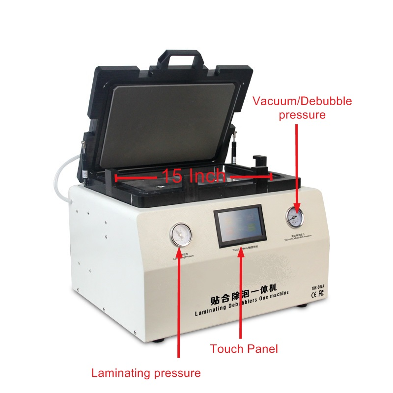 all in one Soft to Hard airbag type OCA laminator 15 inch LY 858 with S6 S6 S7 NOTE4 EDGE moul for phone lcd repair machine in Power Tool Sets from Tools