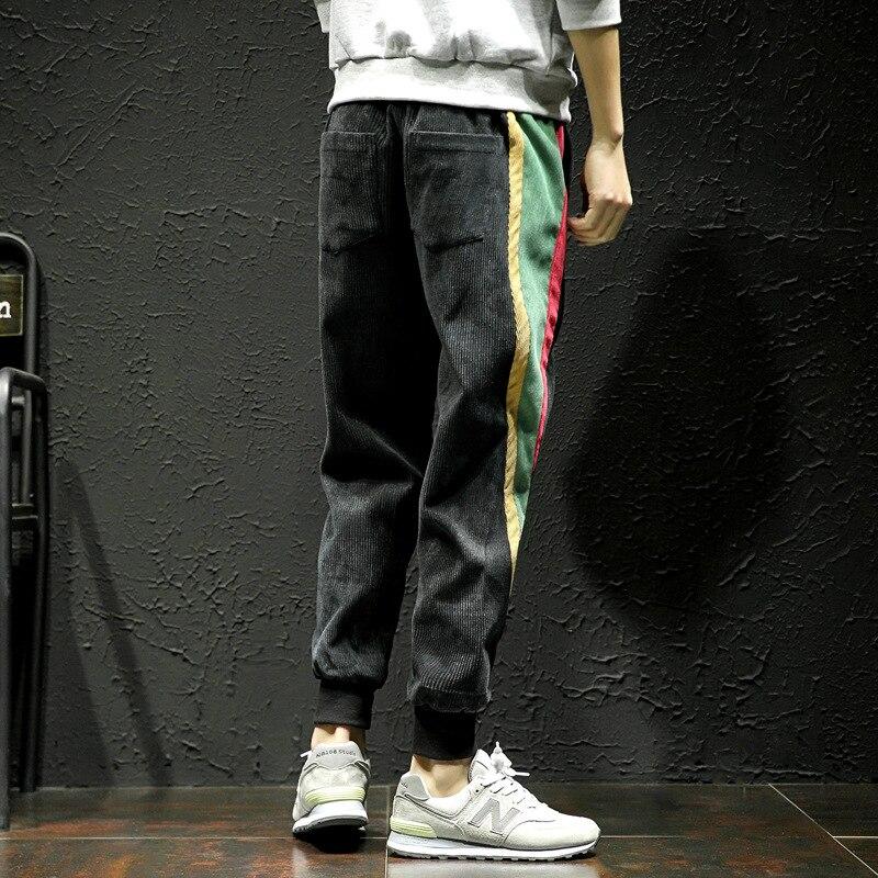 2018 New Striped Leisure Jogges Pants Men Hip Hop Streetwear Sweatpants Homme Fashion Loose Rainbow Mens Pant Oversize 5XL
