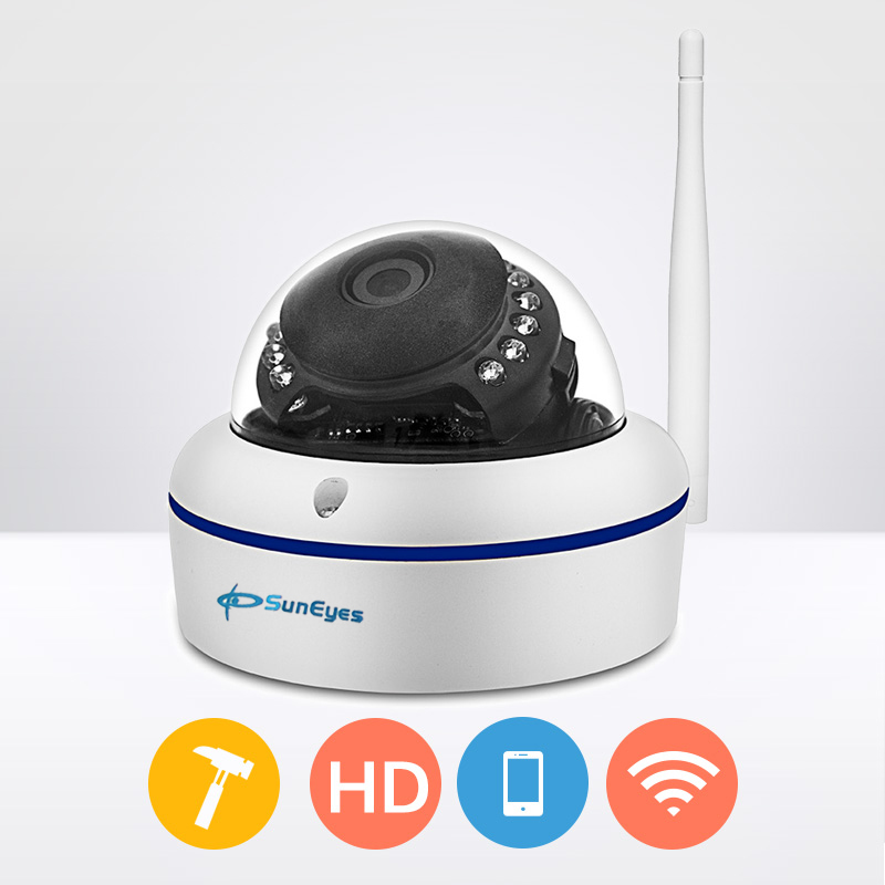 ФОТО SunEyes SP-V702W 720P HD Mini Dome IP Camera Outdoor Wireless Wifi Weatherproof ONVIF and RTSP with P2P Metal Alloy Case