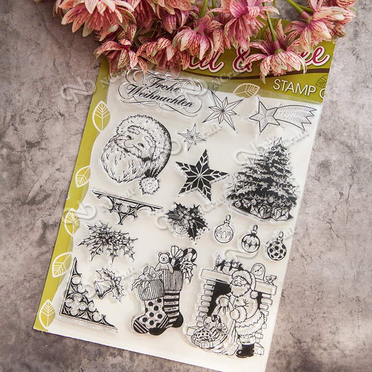 Scrapbook DIY photo cards account rubber stamp clear stamp seal kid transparent silicone Christmas elements Handcrafted art seal scrapbook diy photo album card hand account rubber seal product seal transparent seal stamp cat