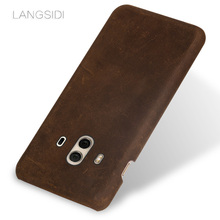 wangcangli brand mobile phone shell leather Suitable for Huawei mate10 handphone full custom processing