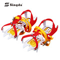 Wholesale Top Quality Hot 12-Teeth Winter Snow Ice Crampons Boot Shoe Covers Outdoor Climbing Walking pike Cleats Ice Gripper