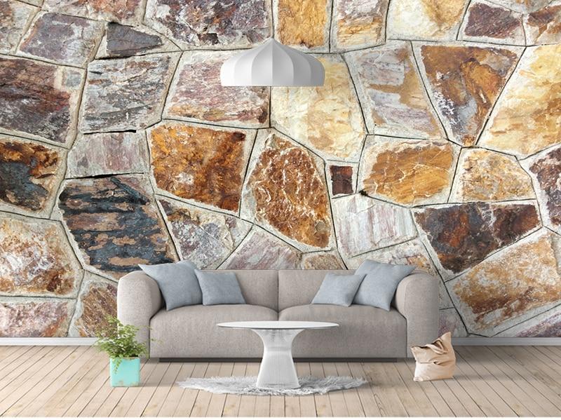 Brown Stone Wallpaper Mural