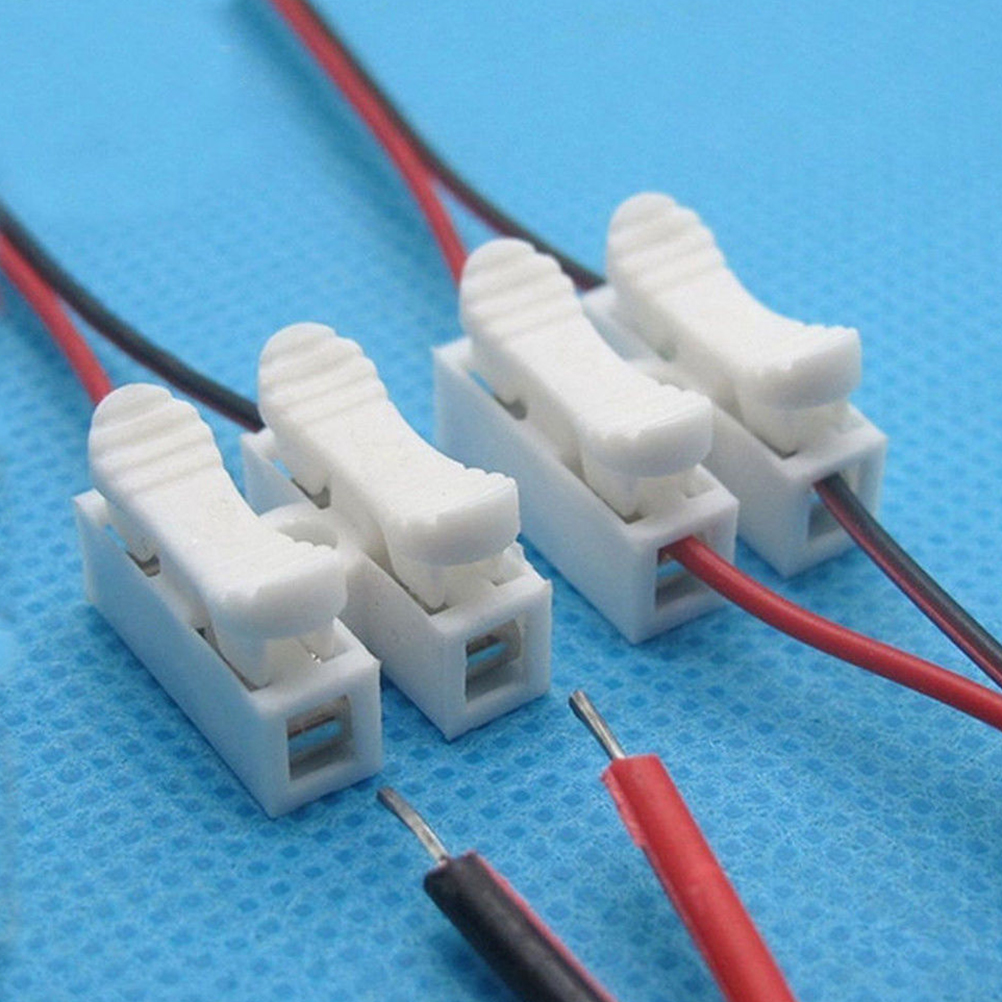 Wholesale 30PCS Push type wire connector 2P butt joint Terminal ...