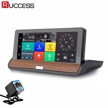 Ruccess 3G Retrovisor de Navegación GPS Del Coche DVR Cámara de Doble Lente Dvr FULL HD Android 5.0 GPS Navigaccion Grabadora de Automóviles Dashcam