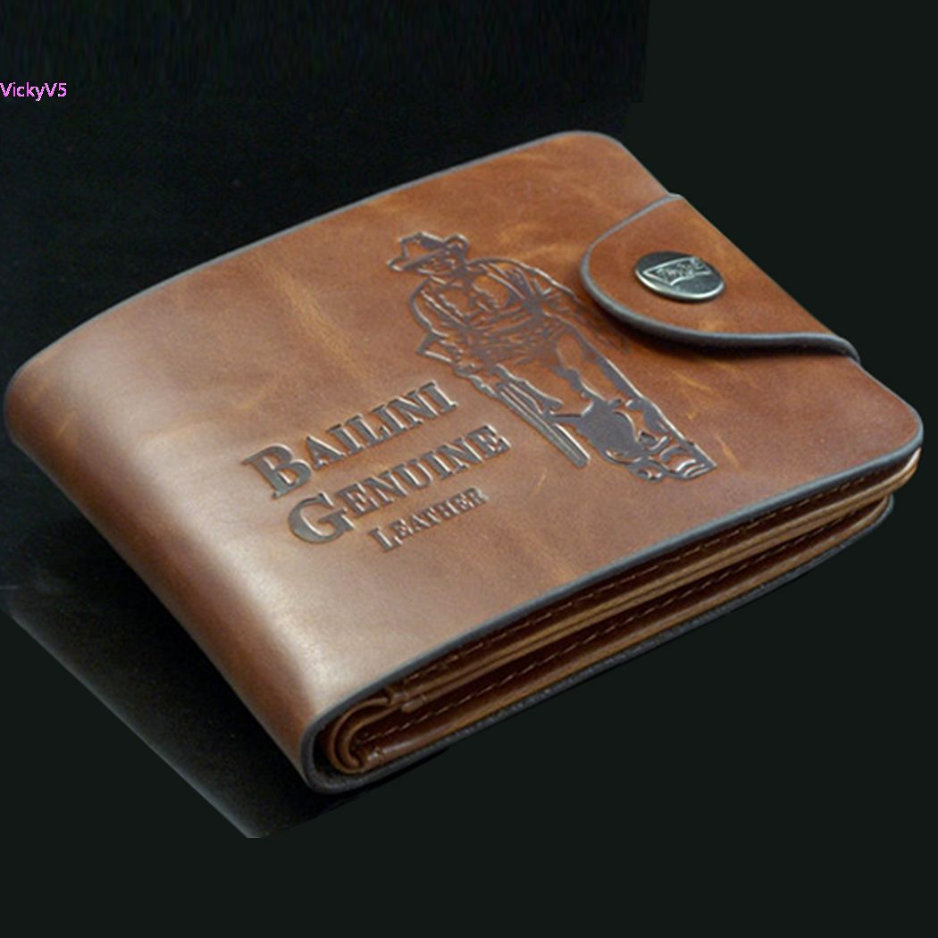 Casual Wallets For Men New Design Genuine Leather Top Purse Men Cards Holder Wallet vy 9877