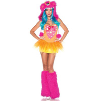 Wholesale Adult Womens Sexy Pink and Orange Monster Fancy Dress Costume Outfit