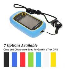 Senderismo GPS de Mano Accesorios de Caucho de Silicona Caso + Negro Anillo Desmontable Cuello correa para Garmin eTrex 10 20 30 10x 20x 30x 309x
