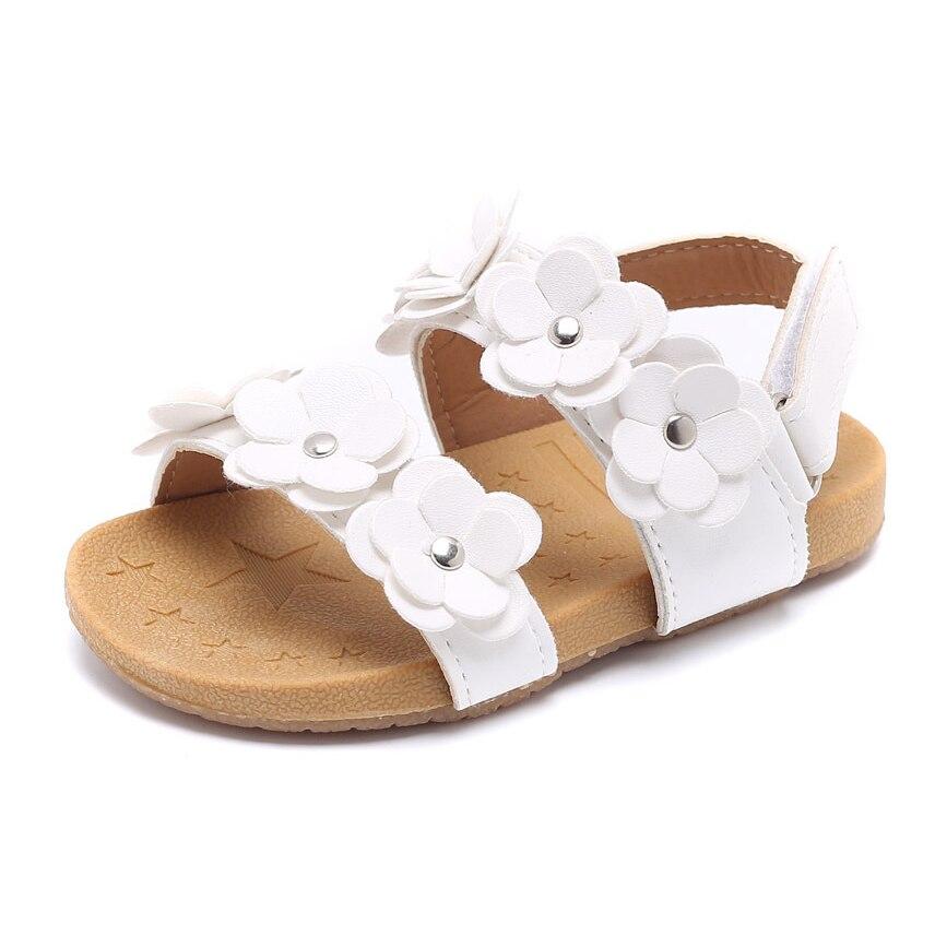 d7201d8a4 Cozulma Лето Обувь для девочек цветок пляжные сандалии для Дети  противоскользящие римские сандалии дети вырезы Шлёпанцы для женщин Обувь