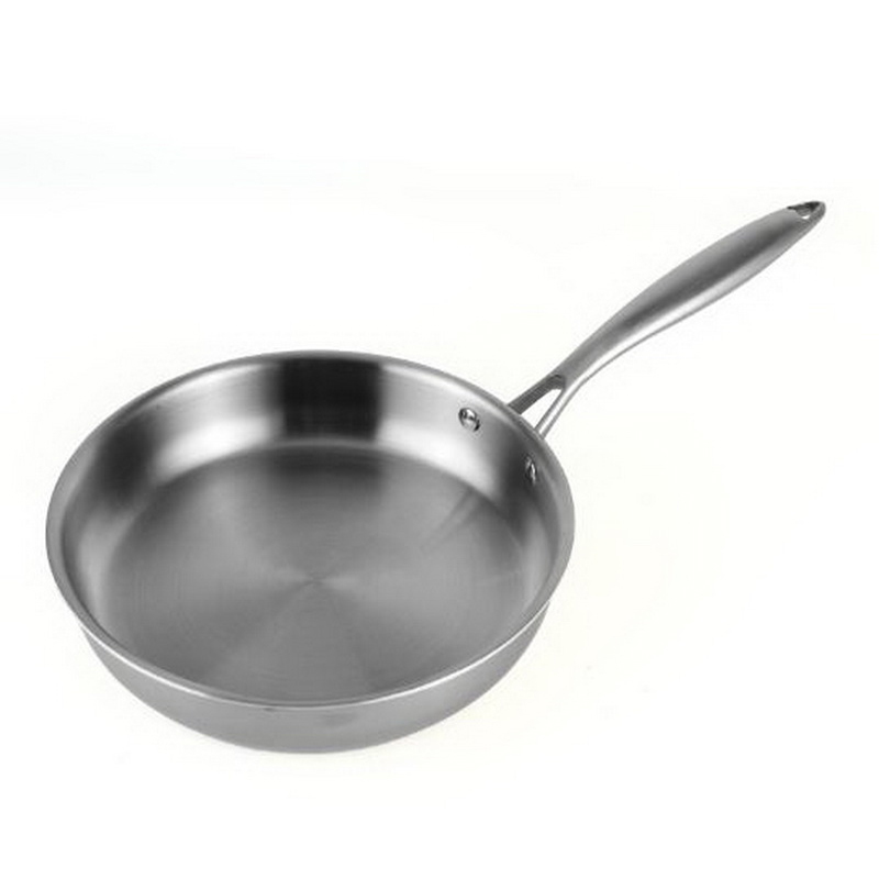 frying pan/No coating/No oil fumes/non stick pan /Stainless steel/Thickened handle/Five layer composite steel structure/281106