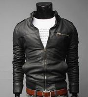 2017 Brand Man Zipper Leather Jackets PU Classic Jaqueta Masculinas Inverno Couro Jacket Men Black Motorcycle