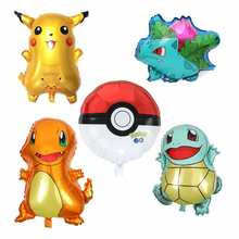 Cartoon Pikachu Pokemon Go Helium Foil Balloons Inflatable Children birthday party decorations kids toys Children's Day стоимость
