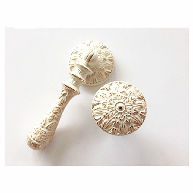 Single hole drawer knobs and pulls ivory white classic kitchen single hole drawer knobs and pulls ivory white classic kitchen cupboard wardrobe furniture door small pendant aloadofball Choice Image