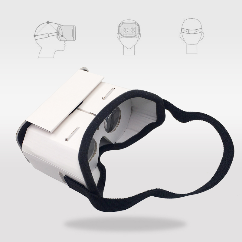 Light Castle Google Cardboard Style Virtual Reality VR Glasses For 3.5 - 6.0 inch Smartphone Glass for iphone for samsung 3