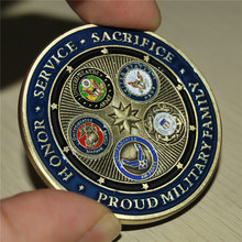 Brand New Proud Military Family U.S. Armed Forces - Challenge Coin USCG US COAST GUARD CHALLENGE COIN, free shipping