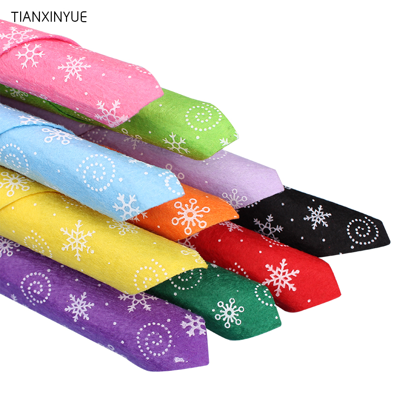 Tianxinyue 10pcs/lot 30*30cm Christmas Snow Fabric 100% Polyester Nonwoven Felt Fabric Diy Cloth For Flower&animal Toy Felts Apparel Sewing & Fabric Arts,crafts & Sewing