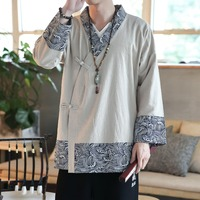 Traditional Chinese Clothing For Men 2019 New Male Asian Clothes Kimono Cardigan Men Yukata Haori Japanese Pajamas Mens KK2731