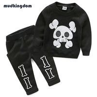 Mudkingdom Baby Boys Thanksgiving Outfit Kids Baby Girl Clothes Children Christmas Skeleton Clothing Sets Girls Boutique