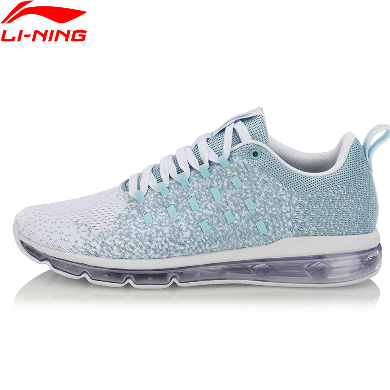 Li-Ning Women BUBBLE MAX Lifestyle Shoes Cushion Breathable LiNing Mono Yarn Comfort Sport Shoes Sneakers AGCN092 YXB214