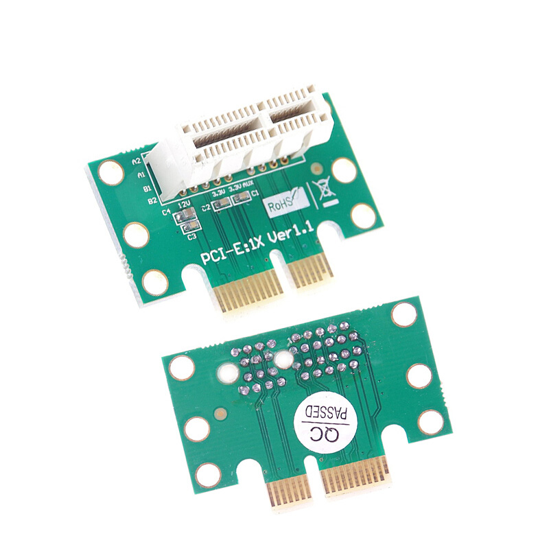 BTBcoin PCI-E PCI Express X1 Adapter Riser Card PCI E PCIE X1 to X1 Slot Convert Card 90 Degree For 1U Server Chassis Wholesale 4