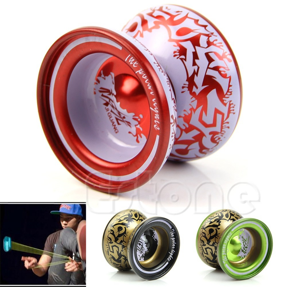 2018 New Kids Children Professional Toys Alloy Yo-yo Ball Bearing String Aluminum Gift Strong Packing