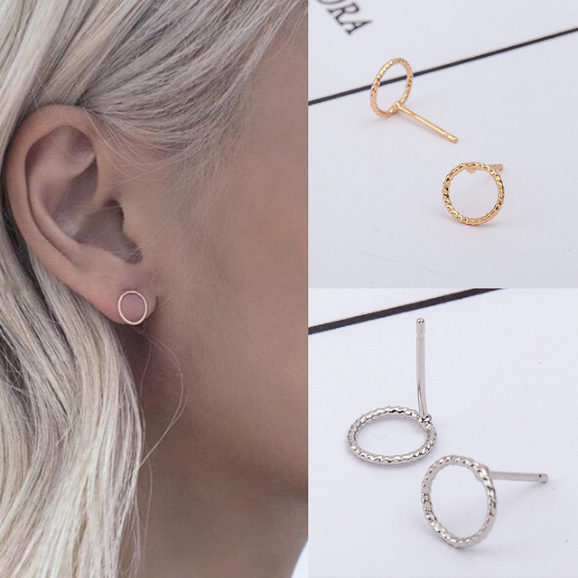 Simple Fashion Twist Circle Earrings Geometric Circle Earring Oorbellen Flawless Pendientes ExquisiteTrinket Bijoux Earrings