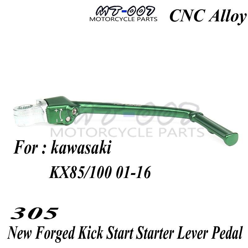 Nouveau bras de pédale de levier de démarrage forgé pour moto KAWASAKI KX85 KX100 01-16 Motocross hors route moto