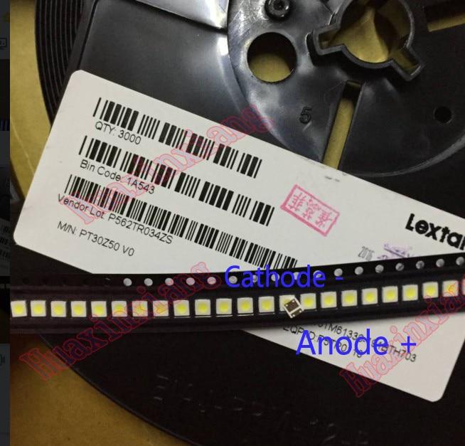 100pcs/Lot SMD LED Lextar 3030 3V 1.5W Cold white High Power LED For TV Backlight