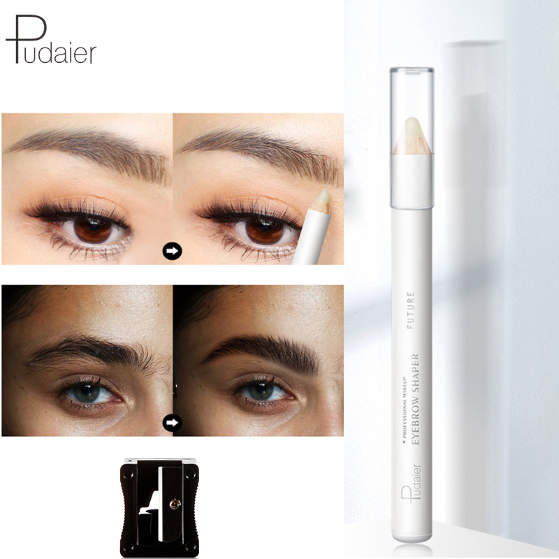 Pudaier Eyebrow Lasting Stereotype Pencil Colorless Brow Raincoat Waterproof Eyebrow Fixing Pen Anti-halation Eyeshadow Eyeliner Pure Whiteness Eyebrow Enhancers