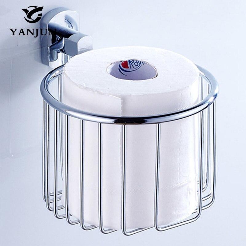 Yanjun silver brass chrome plated bath towel holder basket - Chrome plated brass bathroom accessories ...