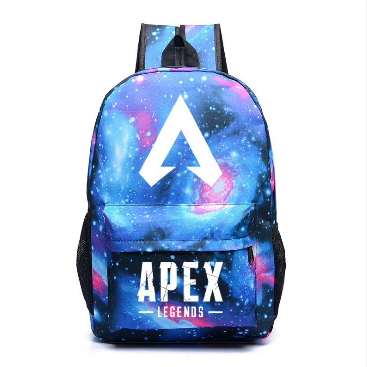 Apex Legends Noctilucent Backpack Shoulder School Bag Noctilucous Backpack Student Luminous Notebook Bags