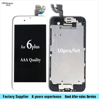Mobymax 10pcs Lot LCD Touch Screen Digitizer Full Assembly For IPhone 6 Plus Ecran A1522 A1524