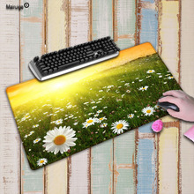 Mairuige Daisy Flower Large Lock Edge mouse pad Anti-slip Natural Rubber PC Computer Gaming mousepad Desk Mat for LOL CSGO DOTA daisy flower and blue sky round mouse pad