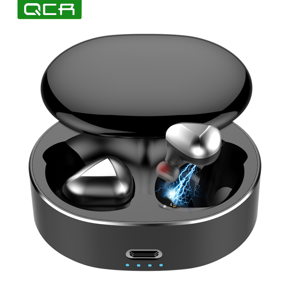 QCR HiFi 6D Stereo Bluetooth 5.0 TWS Wireless Headphones Earphones IPX6 Waterproof Headset Sport Bluetooth Earphone HeadfreeQCR HiFi 6D Stereo Bluetooth 5.0 TWS Wireless Headphones Earphones IPX6 Waterproof Headset Sport Bluetooth Earphone Headfree