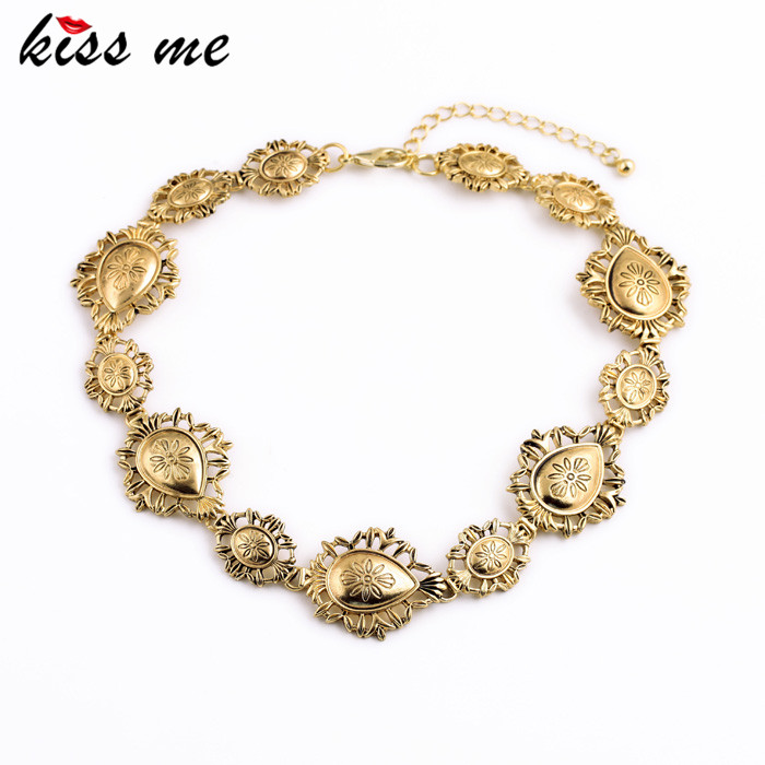 Women Fashion Vintage Jewelry KISS ME Collares Newest Hollows