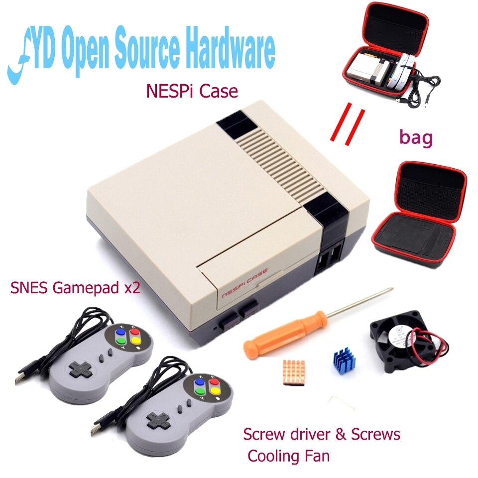Mini NES NESPI CAS Retroflag Cas paquet pour Raspberry Pi 3 2 B + NES Classique Mini pour RetroPie Raspberry Pi 3/2/B +