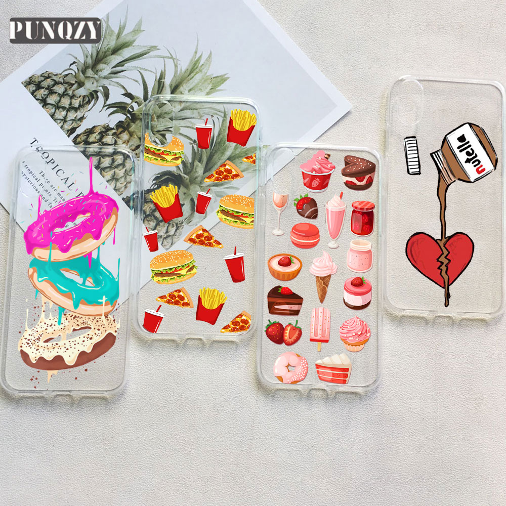 18b94d0c1 Food Donut Ice Cream chocolate phone Case for huawe P20 Lite P10 P9 P8 Lite  2017