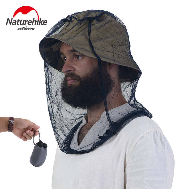 NH Mosquitoes Helmet Fishing Camping Field Jungle Mask Insect resistant Mask Face Protect Cap Mesh Cover