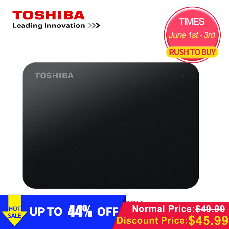 "Original Toshiba 1TB 500GB External HDD 2.5"" USB 3.0 5400RPM External Hard Drive 1TB Hard Disk Drive for Laptop Computer PC-in External Hard Drives from Computer & Office"