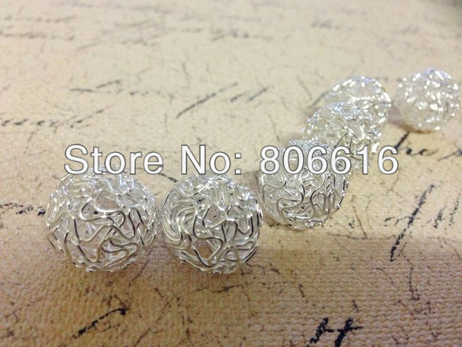 18-30MM (Plz choose size in message) Hollow Metal Wire Alloy Beads DIY Jewelry Findings Accessories
