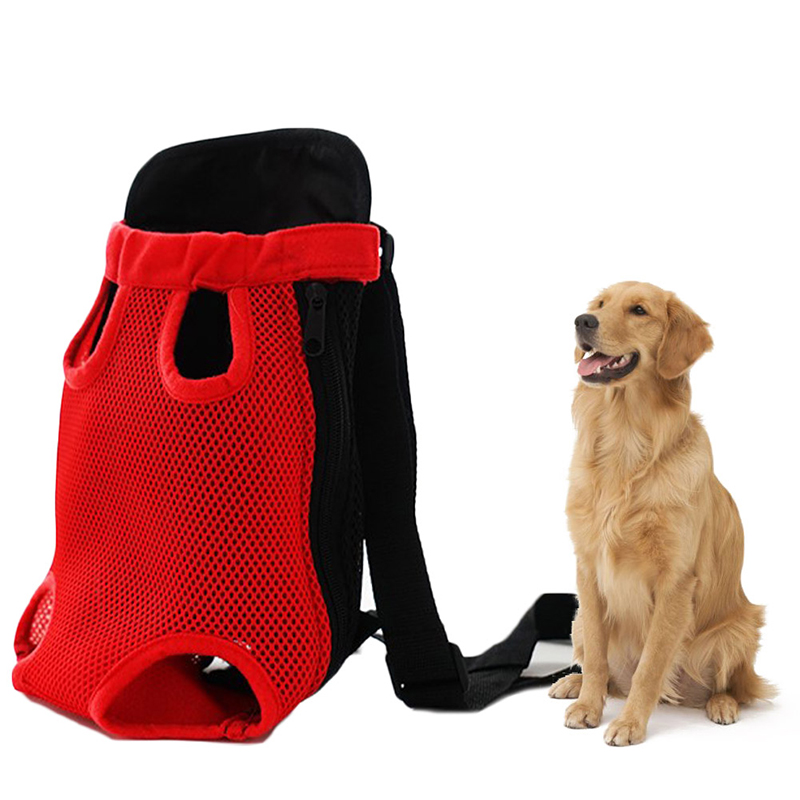 Pet Carrier Dog Front Chest Backpack Five Holes Backpack Dog Outdoor Carrier Tote Bag Sling Holder Mesh Cat Puppy Dog Carrier 7