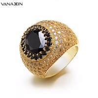 VANAXIN Breiten Ring Big Black White CZ Bling Bling Top Qualität kupfer Ringe Männer Engagement Frauen Kühlen Ringe Schmuck Rose Gold Box