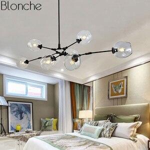 Image 4 - Современная люстра в скандинавском стиле, светодиодный потолочный светильник в стиле индастриал для гостиной, спальни, кухни, подвесные осветительные приборы