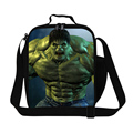 Superman Hulk Shoulder Lunch Bags For Children Cartoon Character 3D Print Kids Lunch Box Thermal Insulated Lunchbox Food Bag