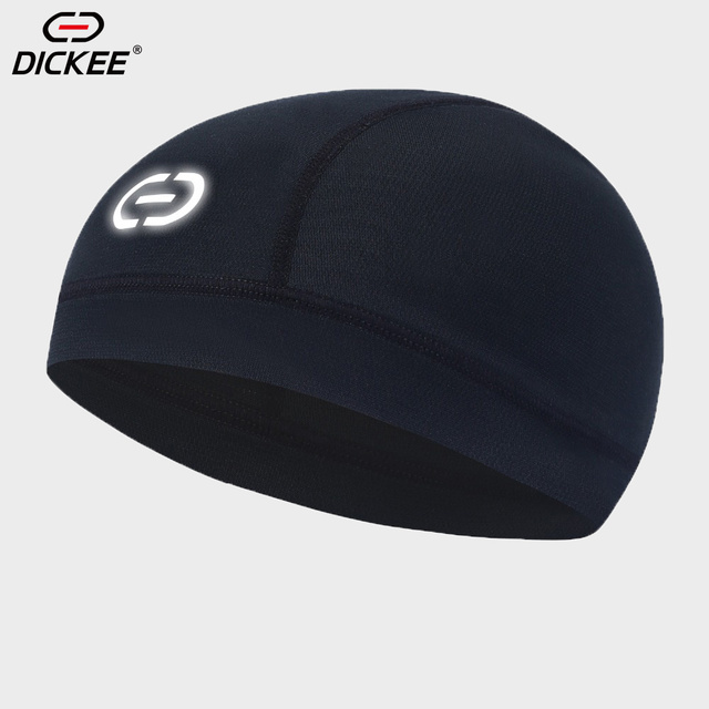 DICKEE Helmet Liner Cap Reflective Summer Motorcycle Cycling Running Beanie  Windproof Hat Windstopper Quick Moisture Wicking 7eb1b4ea260